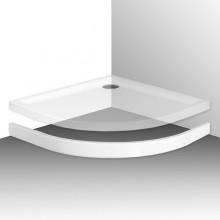 ROTH FLAT ROUND 900 čelný panel 900mm, štvrťkruh, krycí, akrylátový, biela