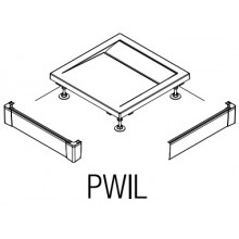 SANSWISS PWIL L-panel 800x1200mm, predné, biela