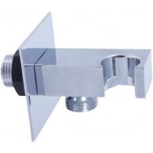 RAV SLEZÁK držiak sprchy 60x60mm, s vývodom pre hadicu, kov, chróm