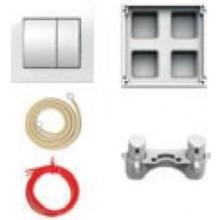 JIKA set oddialeného splachovanie, pneumatický, pre podomietkové moduly, bílá