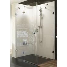 RAVAK BRILLIANT BSDPS 110/80 sprchovací kút 1100x800x1950mm dvojdielny s pevnou stenou, ľavý, chróm/transparent
