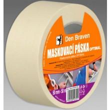 DEN BRAVEN OPTIMAL maskovacia páska 25mmx50m, svetložltá