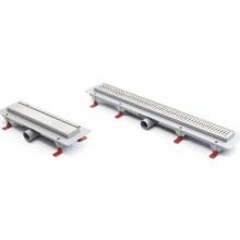 CHUDĚJ MEDIUM lineárny žľab 850mm, podlahový, PP/PS, nerezová mriežka, lesk