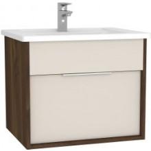 VITRA INTEGRA skrinka pod umývadlo 566x447x484mm, vrátane umývadla, metallic walnut/cashmere