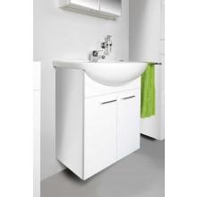 CONCEPT 50 skrinka pod umývadlo 55x31,5x72cm závesná, biela / biela C50.60.B