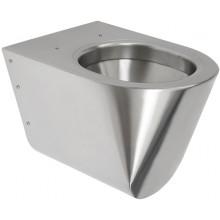 SANELA SLWN 04 závesné WC 359x535x362mm, antivandal, nerez mat