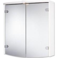JOKEY JOBA zrkadlová skrinka 63x23,5x68cm drevo, biela/hliník