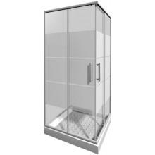 JIKA LYRA PLUS sprchovací kút 800x800x1900mm štvorcový, stripy 2.5138.1.000.665.1