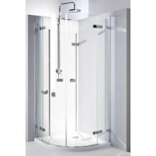 KOLO NEXT štvrťkruhový sprchovací kút 900x1950mm krídlové dvere otvárateľné von, chróm/číre skloReflexKolo