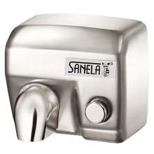 SANELA SLO02M sušič rúk 284x202x248mm, elektrický, s mechanickým tlačidlom, nerez mat
