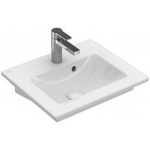 VILLEROY & BOCH VERITY LINE nábytkové umývadielko 500x420mm, s otvorom a prepadom, biela Alpin