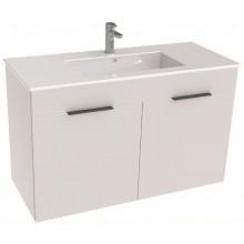 JIKA CUBE skrinka s umývadlom 980x422x607mm, 2 dvere, biela
