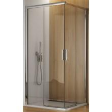 SANSWISS TOP LINE TBFAC sprchový kút 900x1900mm, štvorec, s dvojdielnymi posuvnými dverami, rohový vstup, aluchróm/číre sklo