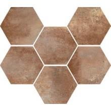 MARAZZI COTTI D'ITALIA dlažba 21x18,2cm, šesťhran, marrone