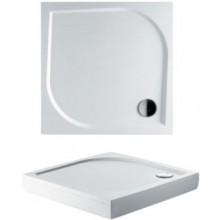 RIHO KOLPING DB20 sprchová vanička 80x80x3cm, štvorec, vrátane sifónu a podpier, liaty mramor, biela