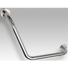 AZP BRNO REHA uhlové madlo 400x117x400mm, 120, ľavé, lakovaná oceľ, biela