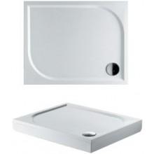 RIHO KOLPING DB31 sprchová vanička 100x80cm obdĺžnik, vrátane sifónu a podpier, liaty mramor, biela