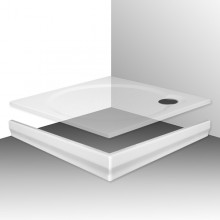 ROLTECHNIK MACAO-M 800 čelný panel 800mm, štvorec, krycí, akrylátový, biela