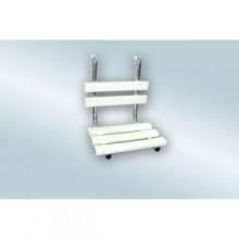 AZP BRNO REHA sprchové sedátko s opierkou chrbta, závesné, nerez-lesk/plast-biela