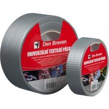 DEN BRAVEN univerzálna páska 25mmx10m, textilná, strieborná