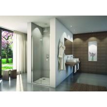 CONCEPT 200 CONF1 sprchové dvere 1000x2000mm dvojdielne, skladacie, pánty vľavo, aluchrom/číre sklo concept-Clean