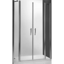 ROLTECHNIK TOWER LINE TDN2/1200 sprchové dvere 1200x2000mm dvojkrídlové na inštaláciu do niky, bezrámové, brillant/transparent