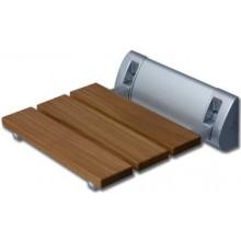 ROLTECHNIK SEAT ECO sedátko 320320mm do sprchovacieho kúta, drevo/chróm