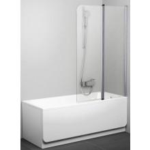 RAVAK CVS2 100 vaňová zástena 990x1500mm dvojdielna, ľavá biela / transparent 7QLA0100Z1