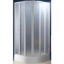RAVAK SKKP6-90 sprchový kút 875x895x1850mm štvrťkruhový, posuvný, šesťdielny, biela / transparent 32070100Z1
