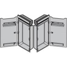 ZEHNDER ZENIA vykurovací modul 1000x450mm, so sálavými sklenenými dvierkami, závesy vpravo, biela