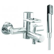 LAUFEN TWINPRIME vaňová nástenná páková batéria, so sprchovou hadicou a ručnou sprchou, chróm 3.2132.7.004.144.1