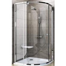 RAVAK PIVOT PSKK3 80 sprchovací kút 770-795x770-795x1900mm štvrťkruhový, satin / satin / transparent 37644U00Z1