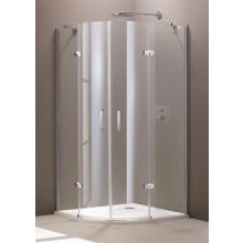 CONCEPT 300 sprchové dvere 1000x1000x1900mm 2-krídlové, 1/4 kruh, strieborná / číre sklo AP, PT432802.092.322