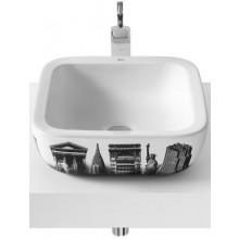 ROCA URBAN NEW YORK umývadlová misa 400x400mm bez otvoru, biela 732765U00U