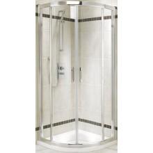 KOLO GEO-6 sprchový kút 900x900mm, posuvné dvere, štvrťkruh, strieborná lesklá/PRISMATIC