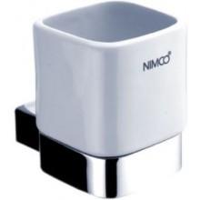 NIMCO KIBO držiak pohára 75x110x90mm chróm / biela KI 14058K-26