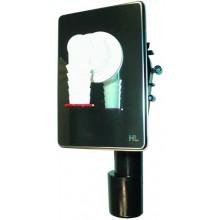 HL zápachová uzávera DN40/50 podomietková vodná, pre práčku, umývačku, nerez oceľ/polyetylén