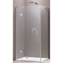 HÜPPE AURA ELEGANCE SW 900 sprchová zástena 885x900x1900mm strieborná matná/sklo privatima anti-plaque 400604.087.375