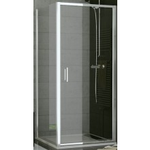 SANSWISS TOP LINE TOPF bočná stena 900x1900mm, matný elox/sklo Cristal perly
