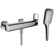 LAUFEN CITYPLUS sprchová nástenná páková batéria so sprchovou hadicou a ručnou sprchou, chróm