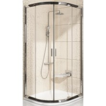 RAVAK BLIX BLCP4 80 sprchovací kút 780-800x190mm štvrťkruhový, posuvný, štvordielny bright alu / transparent 3B240C00Z1