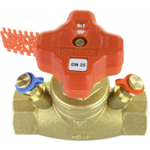 HERZ STRÖMAX-GM regulačný ventil DN25 priamy, vyvažovací, s meracími ventilčekmi
