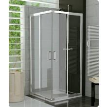 SANSWISS TOP LINE TOPACO sprchovací kút 900x900x1900mm s dvojdielnymi posuvnými dverami, rohový vstup, aluchrom/číre sklo Aquaperle
