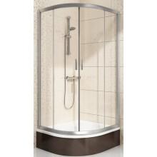 RAVAK BLIX BLCP4-80 SABINA sprchovací kút 800x800x1750mm štvrťkruhový, posuvný, štvordielny, znížený, bright alu/tranpsarent