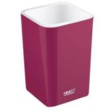 NIMCO ELI pohárik na kefky 75x75x112mm fialová burgundská