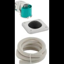 GEBERIT ovládanie splachovania WC 12x12cm, nožné pneumatické, do podlahy
