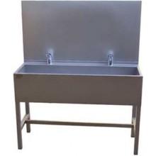 AZP BRNO AUL 01.3 umývací žľab 1900x1500mm, s výtokovými ramienkami, s termostatickým ventilom, nerez oceľ