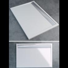 SANSWISS ILA WIA vanička 1200x900x35mm obdĺžnik, vrátane sifónu a krytu, biela/aluchrom