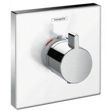 HANSGROHE SHOWER SELECT GLASS termostatická sprchová batéria 156x156mm podomietková, vrchná sada, biela/chróm