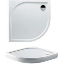 RIHO KOLPING DB18 sprchová vanička 100x100x3cm, štvrťkruh, vrátane sifónu a podpier, liaty mramor, biela